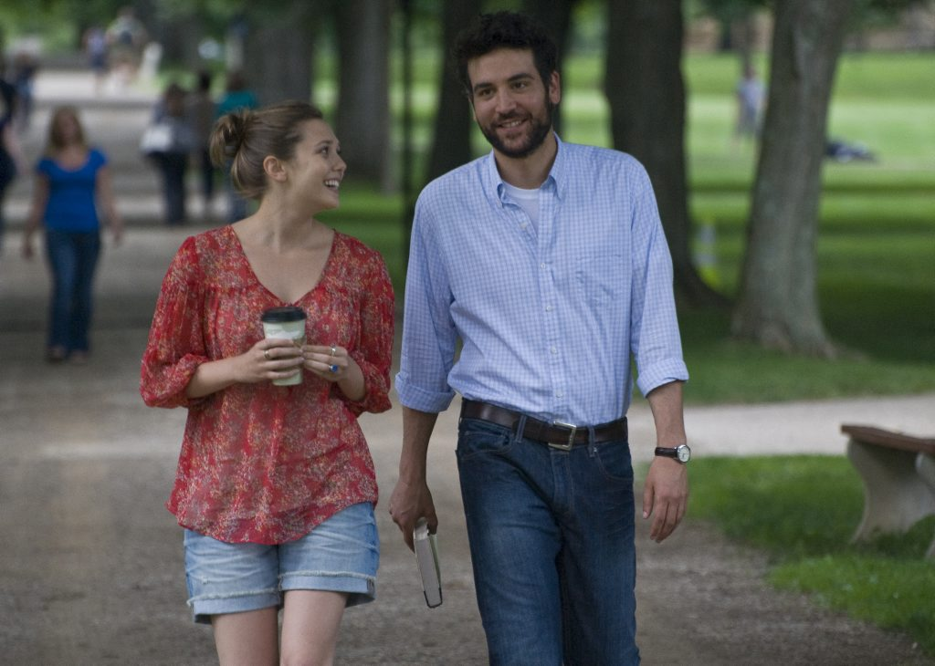 Elizabeth Olsen, left, and Josh Radnor in a scene from the movie Liberal Arts.
