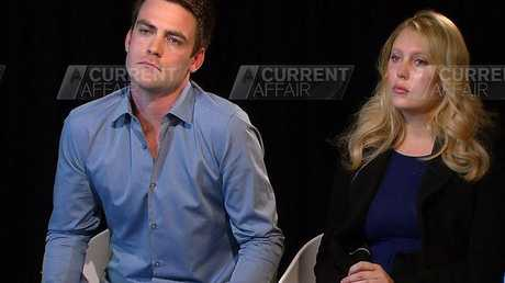 Michael Christian and Mel Greig during the A Current Affair interview.