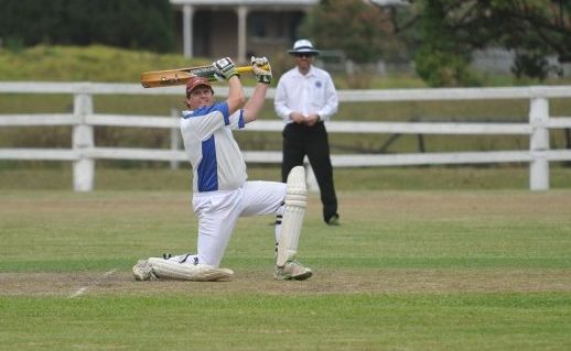 Bob McKenzie bats for Tucabia against Brothers in their CRCA Premier grade cricket match at Ulmarra Showground on Saturday.