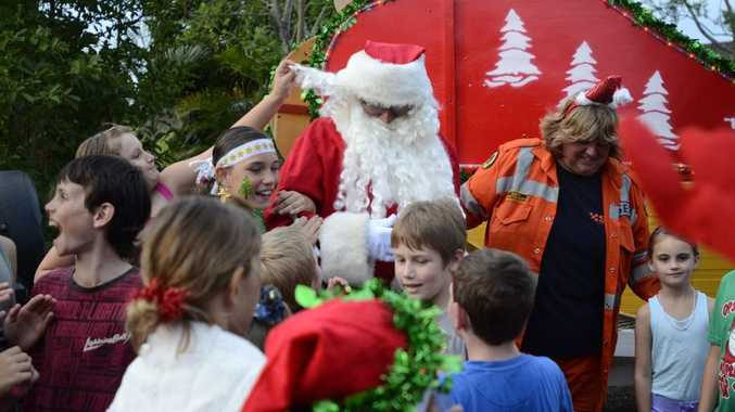 Santa Claus, pictured at the Grafton Christmas Carols on Monday. He will be at Goonellabah tomorrow for a community Christmas party.