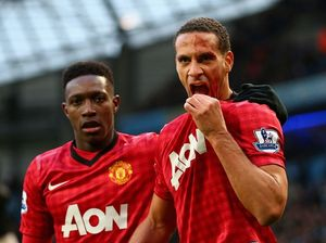Ferdinand cops coin to the face during match against City