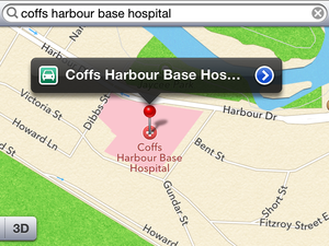 Potential for Coffs disaster due to Iphone mapping mishap