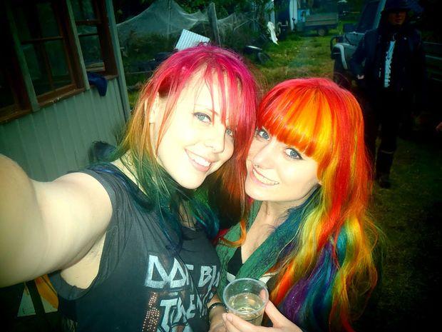 Rhyenn Buckley (left) with her pal Kate.