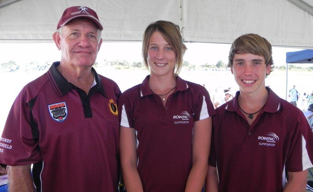 Nationals - John Bigg, Melanie Schmeider & Mitchell Eichmann at the Australian Rowing Championships (file photo).Photo: Contributed