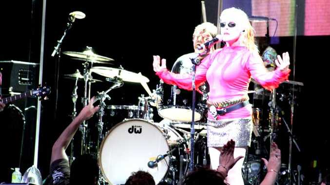 Blondie on stage at the MECC . The 70s band got the party started with some of their classic hits Rapture and The Tide is High.