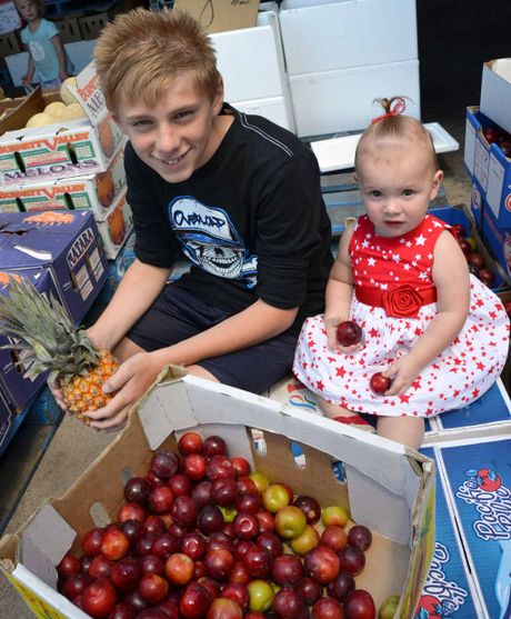 Fruit lovers Michael and Rikaya Kelk visited the Warwick Farmers Markets to grab a few tasty treats.