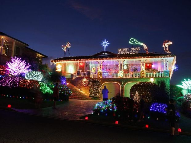 One of the Trinity Drive homes during the 2011 light-up.