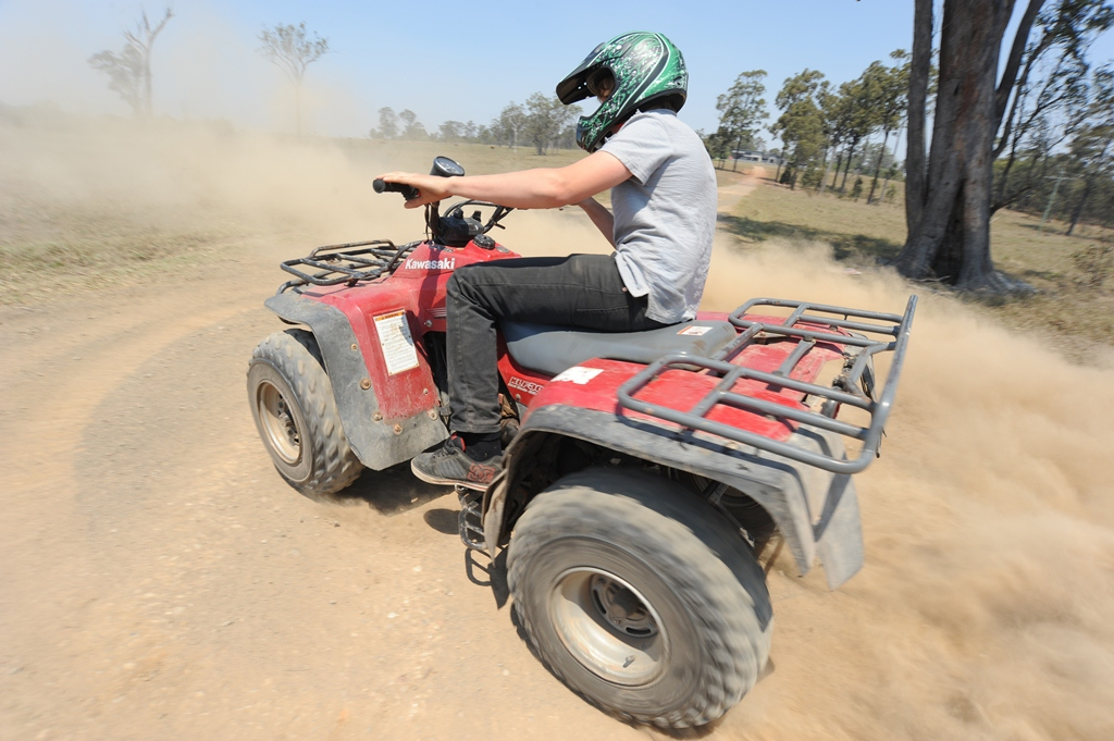 Authorities seek man injured in Cooloola Cove quad bike accident who fled the scene. Stock image.