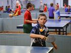 St Luke's Liam O'Sullivan competes in the Bundaberg Schools table tennis titles