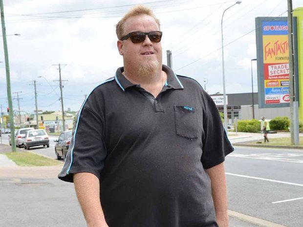 WALKING TALL: Truckie Daniel Vorbach has lost 6kg after starting the QT's Swap It Don't Stop It challenge.