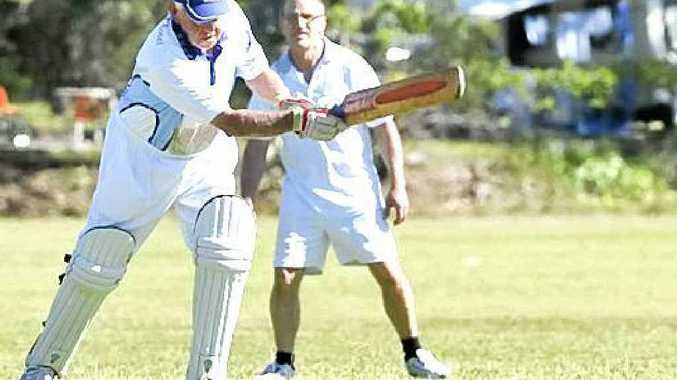 LONG INNINGS: A file picture of John Lee batting for his beloved Eastern Districts in a Lismore fourth grade match at the Recreation Grounds. Lee was guest of honour during a match at Oakes Oval to celebrate his 80th birthday and as the Far North Coast's longest-serving player.