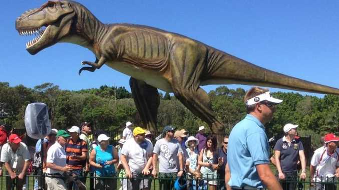 Jeff the dinosaur is a key feature of the Palmer Coolum Resort.