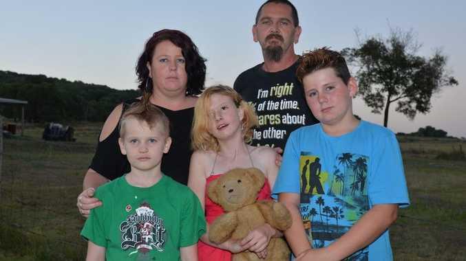 DEVASTATED: Melissa and James Saly with their children, Jarrad, Ashley and Jayden.