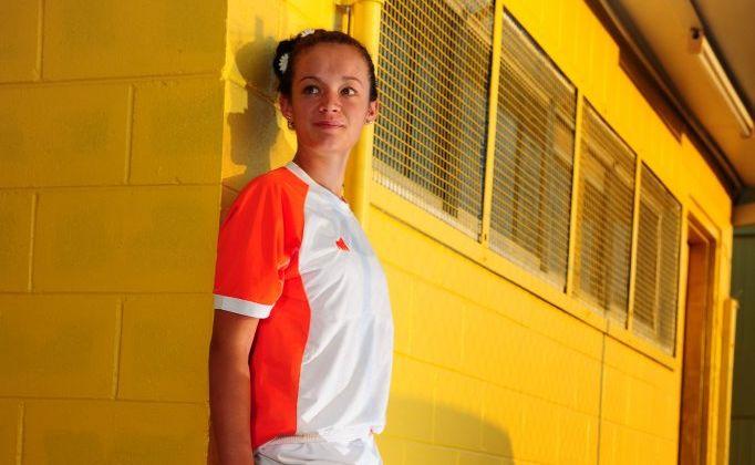 Tori Van Vegchel is part of the Meteorites team in six-a-side soccer.