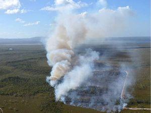 Bushfire destroys parkland