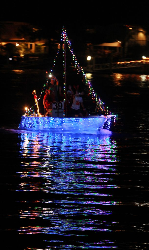 Mooloolaba Christmas Boat Parade with the Tikka 57 in 2012