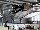 Nathan 'Lanky' Philps shows off his gravity defying stunts at the Rock Off opening last year.