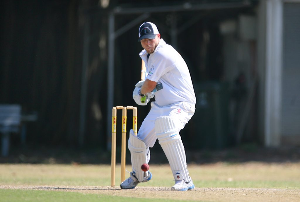 Josh Marrinan batting for Brothers in the cricket game against Frenchville. Photo: Chris Ison / The Morning Bulletin