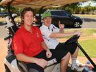 FUN EVENT: Brenton Walk and Dan Thomas at the Umoja Orphanage Kenya charity golf day held at the Coral Coast Golf Club. Photo: Mike Knott / NewsMail
