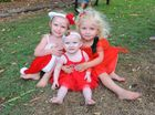 CHRISTMAS KIDS: Gabriella James, Scarlett James and Maevey Engstrom at the Citicoast Church Christmas Unwrapped. Photo: Mike Knott / NewsMail