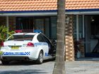 Coffs Harbour police at the Pacific Highway motel where a crime scene has been setup as part of the Bonville murder investigation.
