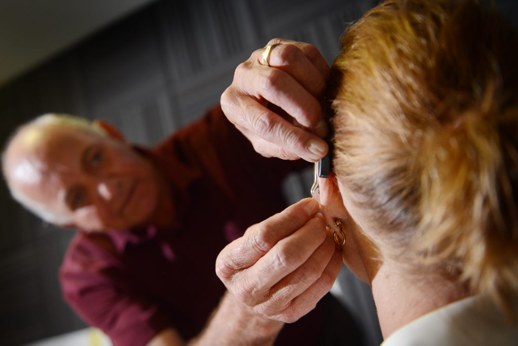 Hearing clinician Allen Fort is the Gladstone region's first full time hearing clinician.