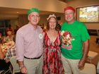 Rotary Club of Mooloolaba Christmas party at the Surf Club Mooloolaba: Peter and Dianne Bell (left) and Geoff Hopkins. Photo: Brett Wortman / Sunshine Coast Daily