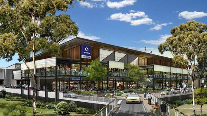 An artist's impression of the redevelopment of Stockland Gladstone shopping centre's western side.