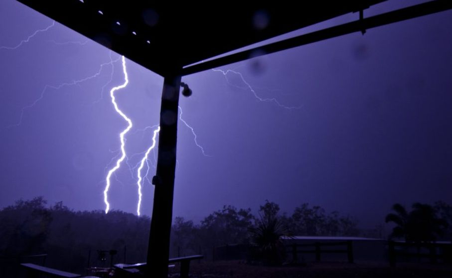 SUMMER STORMS: Chris Marsh captured this image of Monday night's storm near Gin Gin.
