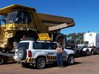 Louise Size of Stanthorpe drives an escort vehicle named Thelma.