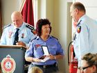 Queensland Fire and Rescue Service awards - held at the Maryborough Station. Diligent and Ethical Service Medal with first clasp recipient, Desley Goldsworthy has served for 21 years and one month. Photo: Valerie Horton/ Fraser Coast Chronicle.