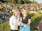 GOOD SHOW: Lismore Carols by Candlelight events support co-ordinator Leanne Clark and organiser Katie O'Rourke were thrilled with the turn-out at Sunday night's carols at Riverside Park, Lismore. PHOTO: DOUG EATON