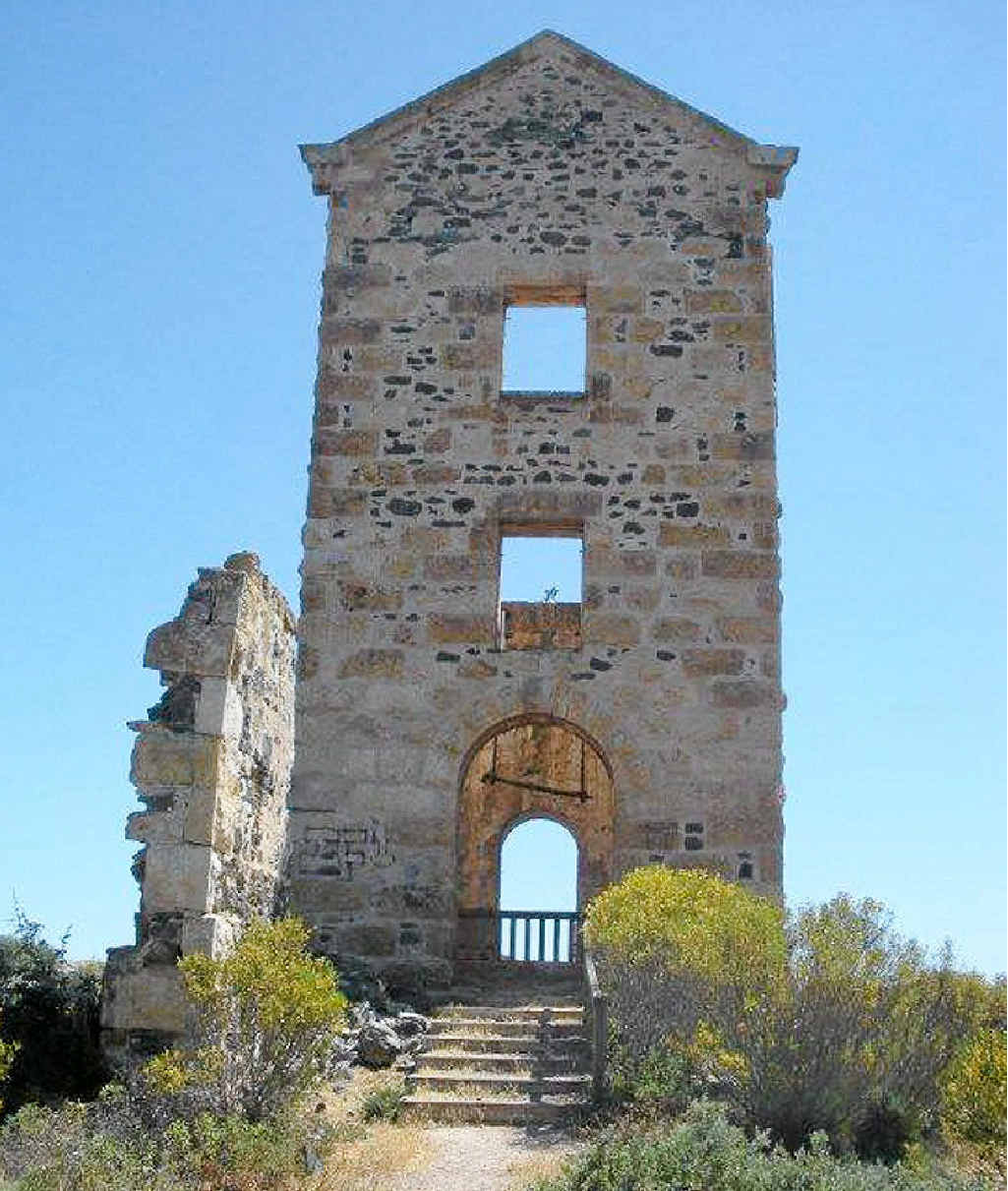 The Wallaroo Mines smelter, which was once a vital part of the town, is today just a majestic, skeletal belltower.