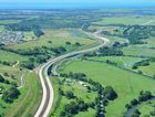 The Ballina bypass route looking south from Cumbalum to the Teven Road interchange in May this year.