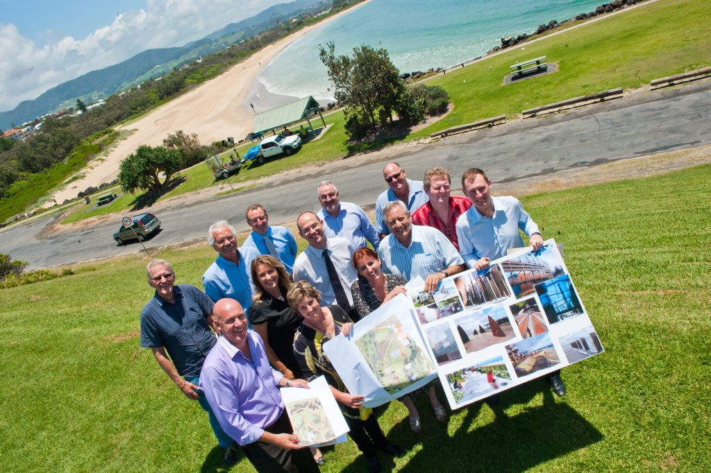 The Jetty Foreshores Reference Group met at the Deep Sea Fishing Club on Wednesday to discuss concepts which may be incorporated into the final design to be presented to the public. Photo: Rob Wright