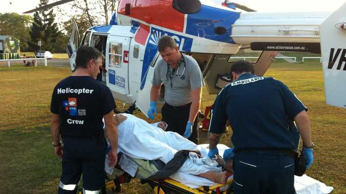 A 60-year-old man was airlifted to hospital after coming off his bike at Ridgewood.