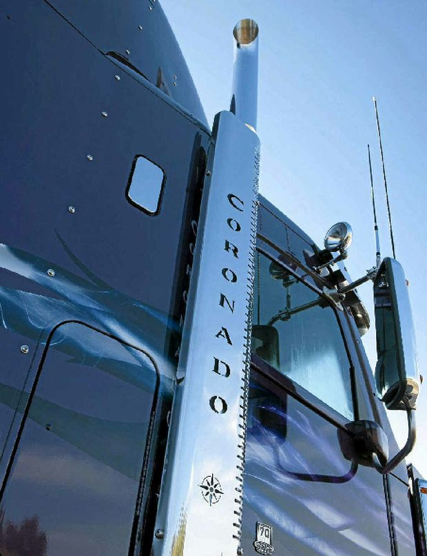 TRADITION: Lashings of good ole' US chrome underlines the heritage of the latest Freightliner. Photos: David Meredith / Big Rigs