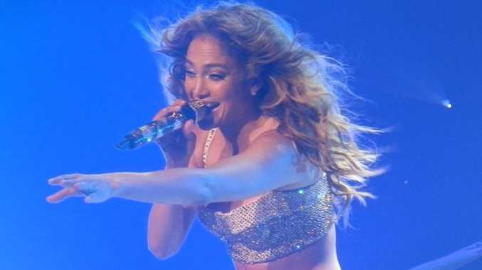 Jennifer Lopez dazzles fans at her last show in Australia at the Brisbane Entertainment Centre.