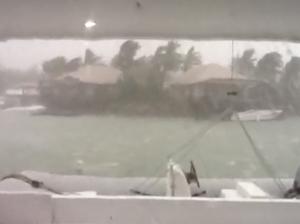 Raw footage of Cyclone Evan