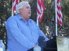 Clive Palmer at the unveiling of the John Fitzgerald Kennedy 9th Hole Memorial at Palmer Coolum Resort.