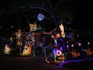 Lights up in Kingaroy
