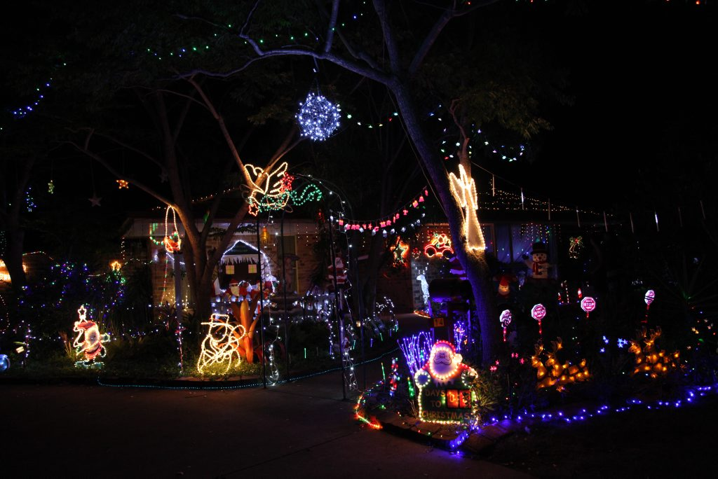 MERRY CHRISTMAS: The winning urban residential home in the Kingaroy Light Up competition at 14 Cowrie Drive.