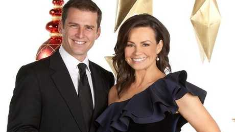 Karl Stefanovic and Lisa Wilkinson host Channel 9's Carols by Candlelight.