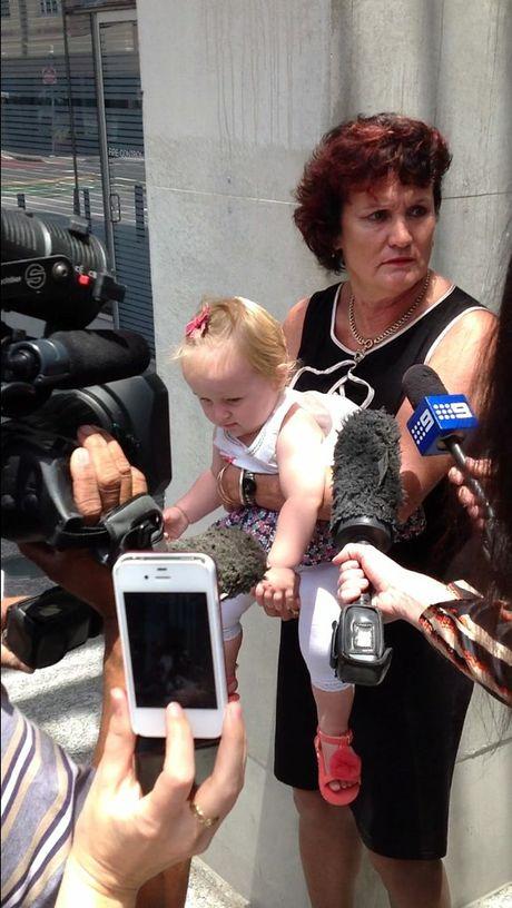 Gail Burns, mother of murdered Sunshine Coast man Jye Burns outside Brisbane Supreme Court after her son's killer was sentenced to life in jail.