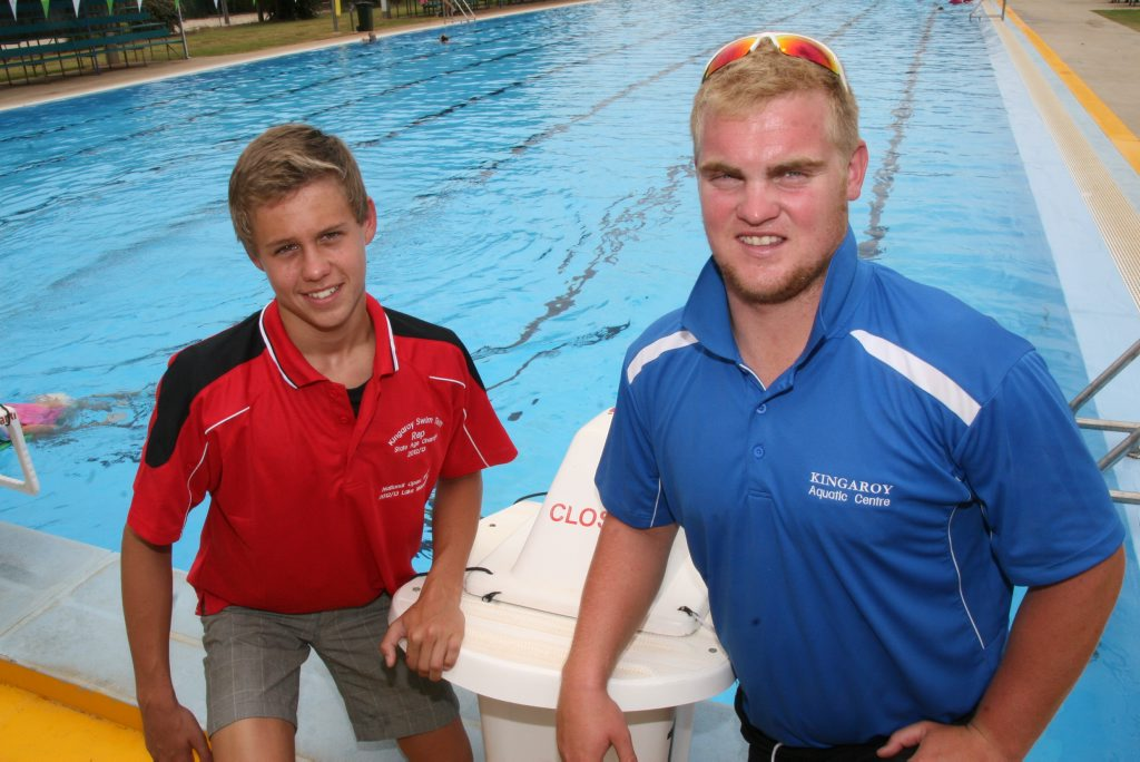 STATE SWIMMER: Kingaroy Swimming Club's Ryan Zeller competed at last weeks Queensland Swimming Championships accompanied by coach Joe Dangerfield.