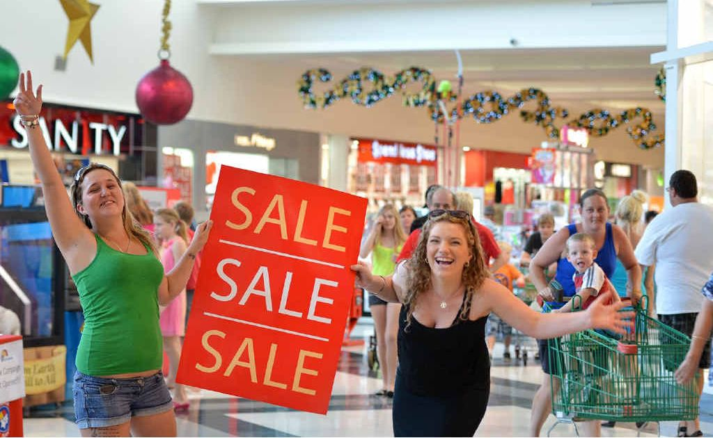Tamika Biddle and Hayley Brennan will be looking for bargains when Centro Gympie holds its first Boxing Day sales.
