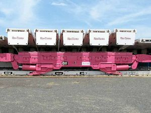 Mine goes pink in show of support