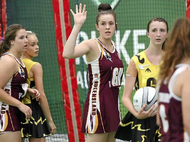 Chelsea Macklin-Shaw, centre, has been selected for a national under-16 merit side.