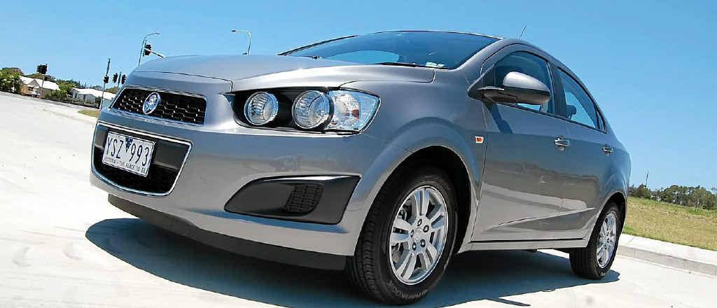 Holden's Barina sedan.