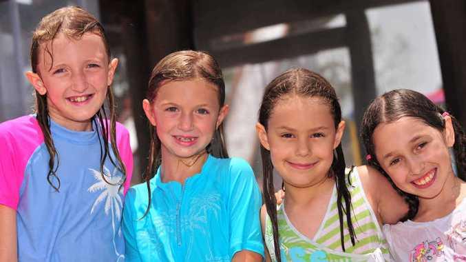Paris Thompson (left) , 9, Jade Thompson, 7, Chloe Kennedy, 8, and Sophia Strauss, 9.